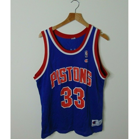 newest 8c1b2 b5f1d 90s Champion 44 Grant Hill Pistons Jersey NBA